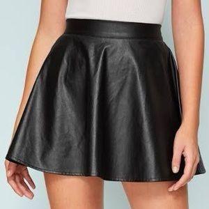 Necessary Clothing Vegan Leather Mini Skirt